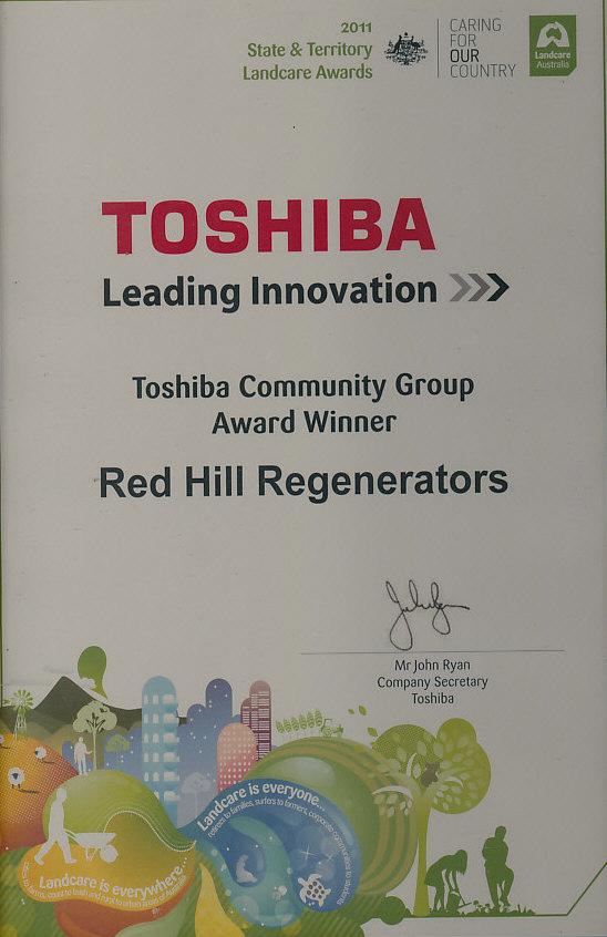 2011 Landcare Award