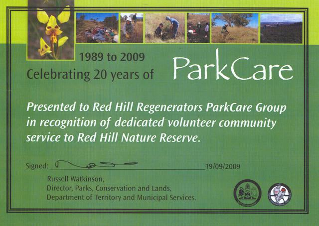 Parkcare _award_2009
